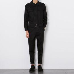 Оптовая-повседневная мода брюки 2016 осень новый мужчины комбинезон мужской с длинными рукавами комбинезон кусок брюки комбинезон инструменты от