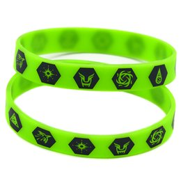 Wholesale Cheap Music Bracelets - Wholesale Shipping New Arrival 100PCS Lot Printed EXO Member Logo Cheap Silicone Bracelet for Music Fans