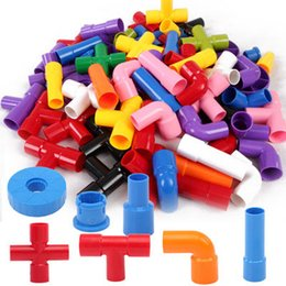 Wholesale House Pipes - Hot water pipe of large particles children puzzle blocks toys toys wholesale house early toy assembly