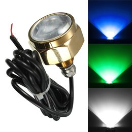 Wholesale Brightest 12v Lights - Wholesale- Excellent Quality IP68 Waterproof Rate 9 LED Underwater Marine Boat Drain Plug Light brightest 27W 1800 Lumens DC11-28V