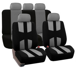 Wholesale Rear Protection - 9pcs set Front and Rear Full Car Seat Cover for Car Seat Protection Covers Automotive Interior Accessories 9pcs set