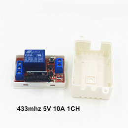 Wholesale Receiver Codes - Wholesale- DC 5V 10A 433 Mhz Wireless Remote Control Switch 1CH relay 433Mhz Receiver Module For learning code Transmitter Remote