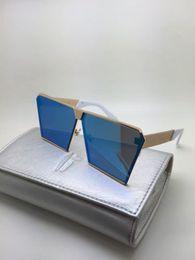 Wholesale Cool Sunglass - Fashion NEW men designer sunglass korean designer Irresistor 012 model square mirror lens oversized cool shiny style come with oroignal case