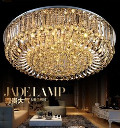 Wholesale New K9 Crystal Chandelier - Free Shipping High Quality New Modern K9 Crystal LED Chandelier Ceiling Light Pendant Lamp Lighting 50cm 60cm 80cm