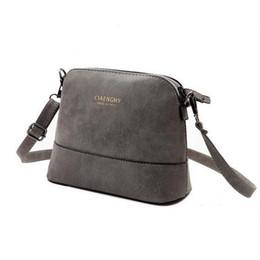 Wholesale Womens Scrubs - Wholesale- Women's Messenger Bag Scrub Shell Bag Nubuck Leather Small Bags Over The Shoulder Womens Purses And Handbags 2017 New Fashion