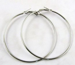 Wholesale Wives Earrings - Large Hoop Earrings for Women Silver Gold Color 30mm 40mm 50mm 60mm 70mm 80mm 90mm 100mm Basketball Wives Earrings New Hot