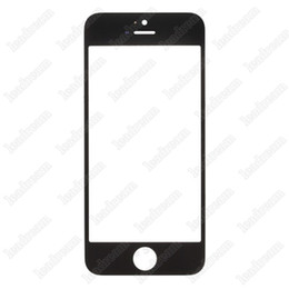 Wholesale Iphone 5s Touch Glass Replacement - 50PCS High Quality Front Outer Touch Screen Glass Replacement Cover for iPhone 5 5s 5c free Shipping