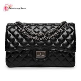 Wholesale Double Flap Purse - Wholesale-2016 New Fashion Women's PU Leather Plaid Handbags Famous Brands Designer Bags Purses Ladies Satchels Messenger Double Flap Bags