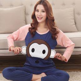 f46cb9aeba New 2016 Autumn Winter Cartoon Womens Pajama Sets O-Neck Long Sleeve Women  Sleepwear Pajamas Girls Woman Pyjama Femme Plus Size