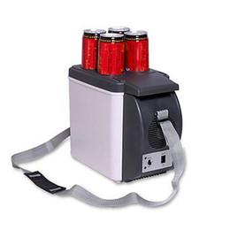 Wholesale Car Refrigerators - Portable Mini HUANJIE 12V 6L Capacity Portable Car Refrigerator Cooler Warmer Truck Electric Fridge Beverage for Travel RV Boat 175067301