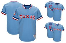 Wholesale Lights Ranger - Men's Texas Rangers 29 Adrian Beltre 12 Rougned Odor Majestic Light Blue 1977 Turn Back the Clock Player Baseball Jersey