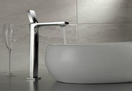 moderne waschbecken Rabatt Neue Ankunft Moderne Einlochmontage Massivem Messing Waschbecken Wasserhahn Becken Waschtischarmatur Chrom-finish