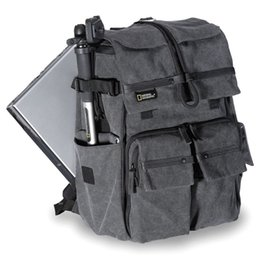 Wholesale Case For Tripod - 2017 New National Geographic Walkabout 5070 double-shoulder DSLR Camera Rucksack Backpack Laptop bag for Canon Nikon Sony Gray