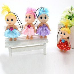 Wholesale Taobao Toys - Confused doll plush toy clown 8cm creative Keychain hanging bag gift wholesale Taobao