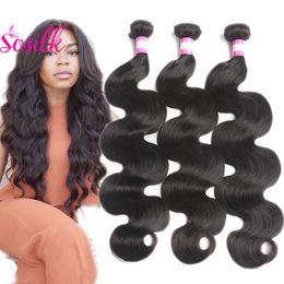 Wholesale Chinese Silk Bulk - Peruvian Virgin Hair Body Wave So Silk Hair Product Peruvian Brazilian Body Wave 3 Bundles Short Human Hair Bundles Wholesale Bulk Waev