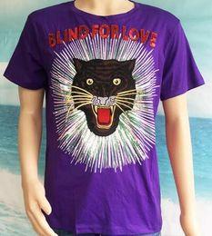 Wholesale Leopard Print Shorts For Men - Fashion Brand Men's Leopard T shirt Italia Design T-shirts Summer Short Sleeve Polo Tops Cotton Tees Blind For Love