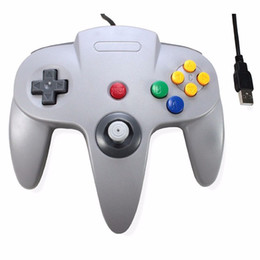 Wholesale N64 Gamepad - Hot Wired USB Game Wired Joystick Controller Gamepad For Nintendo For Gamecube N64 Style PC Mac