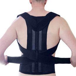 Wholesale Back Corrector Men - Men's Back Posture Corrector Back Braces Belts Lumbar Support Belt Strap Posture Corset for Women Men HEALTH CARE