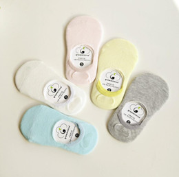 Wholesale Cheap Toddlers Boots - 2 Sizes Baby Socks 2017 Summer Classic Korea Sock Thin Cotton Solid Boot Socks No Show Socks Toddler Infant Kids Sock Cheap Sock