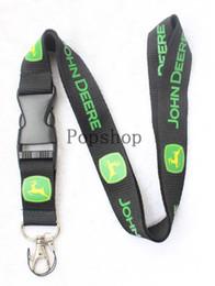 Canada Vent d'automobile JOHN DEERE Lanyard Porte-clés Porte-clés Porte-clés de téléphone portable Porte-cou noir et vert. Offre