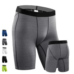 Wholesale Skinny Sweat Shorts Men - Wholesale-New 2016 Men PRO Base Layer Wear Tight Fitness Shorts Sweat Quick-drying Breathable Stretch Shorts