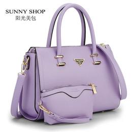 Wholesale Zipper Wallet Shopping Bag - Wholesale-SUNNY SHOP 2 Bags Set American Style Women Bag High Quality Women Messenger Bag Lady Crossbody Bag With A Wallet Brand Designer