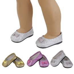 """Wholesale Doll Shoes For Kids - Hot Kids Multicolor Bling Shoes for 18"""" American Girl Doll Accessories Baby Toys Fashion Shoes Birthday Gift for Children Girl"""