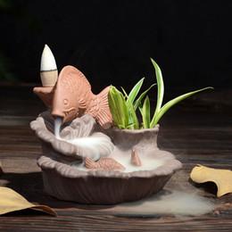 Forni in ceramica online-Bruciatore di incenso di ceramica arte riflettore di incenso titolare di forno di ufficio domestico decorazione Natale Ggift