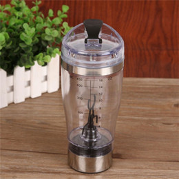 Wholesale Protein Mixer - Wholesale- Top Quality Electric protein shaker blender water bottle automatic movement vortex tornado 450ml free detachable smart mixer cup