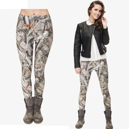 Wholesale Knitted Leggings For Women - 2017 NEW Camo Trees 3d printed Leggings for Women Brand Fashion Leggings Stretchy Casual Fitness Leggings Adventure Time