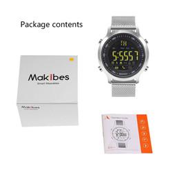 Wholesale Remote Control Stopwatch - Brand ITUF New Light EX18 Smart Watch Men Sport Watch 5ATM Waterproof Bluetooth 4.0 SmartWatch Pedometer Call reminder Stopwatch