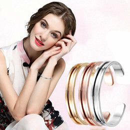 Wholesale Hair Ties Wristbands - 2017 New Novelty Hair Tie Bracelets Cuff Bangles For Women's Fashion Jewelry Hair Tie Holder ladies wristband High quality Open Bangle