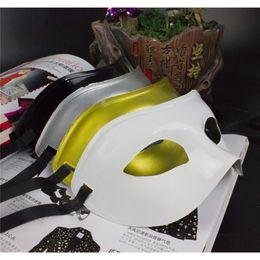 Wholesale Plastic For Dress - 2017 new Men's Masquerade Mask Fancy Dress Venetian Masks Masquerade Masks Plastic Half Face Mask Optional Multi-colors free shipping