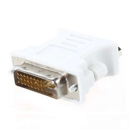 Wholesale 24 pin adapter - Wholesale- YOC-DVI male adapter (DVI - D 24 1) to female VGA (15-pin)
