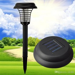 Wholesale Solar Mosquito Killer Light - UV LED Solar Powered Outdoor Garden Lawn Light Anti Mosquito Killer Lamps Insect Pest Bug Zapper Killer Trapping Lantern Lamp