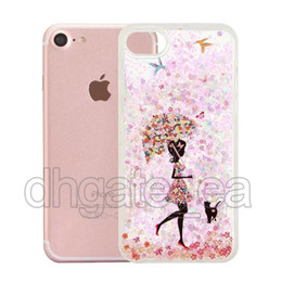 Wholesale Cartoon Girls Phone Case - Quicksand case for iphone 6s cases cartoon girl soft tpu edge cell phone case wholesales glitter stars case for iphone 7 6s plus