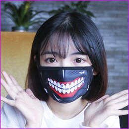 Wholesale Funny Mouths - Tokyo Ghoul Kaneki Ken Horror Halloween Cosplay Mask, Winter Anti-Dust Cotton Funny Warm Face Mask Mouth Muffle