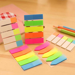 Wholesale Office Supply Stationary Set - 10 sets lot Colorful Note Paper Cute Stationary School Office Supplies Stickers Post It Notes Diy Sticky Notes Paper Memo Pad Papelaria