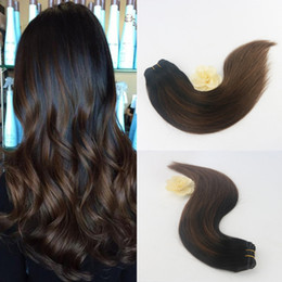 Wholesale Top Weave Sellers - Top Sellers 2017 Real Tangle Free Balayage Color #1B 4 Brazilian Virgin Weaves Original Human Hair Straight