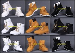 Wholesale Cheap Winter Snow Waterproof Boots - Cheap Double Tongue Mens Ankle Boots Men Gold Chain Lace Waterproof Work Hiking Shoes For Outdoor Winter Snow Casual Sneakers