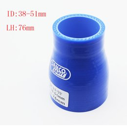 Wholesale Elbow Reducer Hose - RS.MTX Universal ID:38mm OD:51mm Silicone 0 degree reduce silicone tube connector elbow Coupler Silicone hose reducer elbow Air Intake Pipe