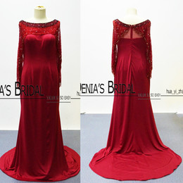 Wholesale 18w work light - 2016 Flare Crystals Sleeves Celebrity Dresses Myriam Fares Sheath Evening Gowns with Major Beading Works Prom Gowns
