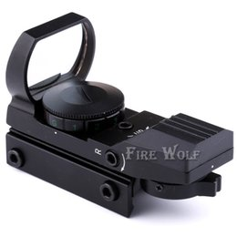Wholesale Mounting Rifle Scopes - Holographic 4 Reticle Red Green Dot Reflex Sight Scope with 11mm 20mm Mount New Free Shipping!