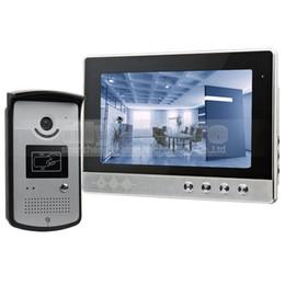 DIYSECUR 10 pollici Wired Videocitofono Campanello Home Security Citofono Sistema RFID Camera LED a colori Night Vision da