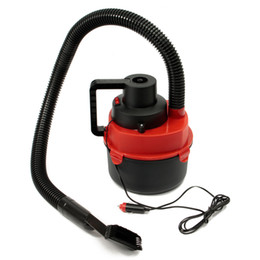 Wholesale Carpet Drier - Wholesale-Brand New 12V Portable Wet Dry Mini Vacuum Cleaner Carpet Car Boat Air Inflating Pump Red