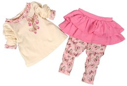 Wholesale Butterfly Style Baby T Shirt - Sweet Spring Style 2pcs Butterfly Set Baby Clothing Sets Including Long Sleeve T-shirt Pants 2 Design