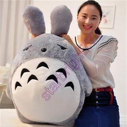 Wholesale Giant Stuffed Totoro - Giant Japan Anime Plush Totoro Toy Soft Stuffed Pop Cartoon Cat Doll Cushion Birthday Xmas Gifts for Kids