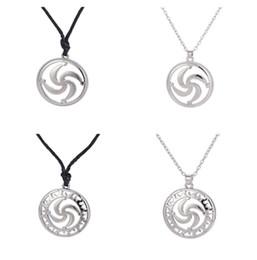 Wholesale rod necklace - Silver Plated Slavic Talisman Symbol Rod Collar Ethnic Necklace Minimalist Cheap Women Pendants Jewelry Free Shipping