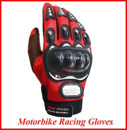 красные желтые мотоциклетные перчатки Скидка Motorcyle гонки перчатки мотоцикл мужчины новый гоночный велосипед MTB Велоспорт полный палец защитные перчатки черный красный синий OUT058