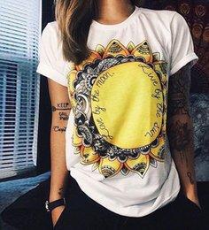 Wholesale Wholesale European Women S Clothing - Wholesale- European T shirt Summer Women 2016 Vibe With Me Print Punk Rock Fashion Graphic Tees Women Designer Clothing